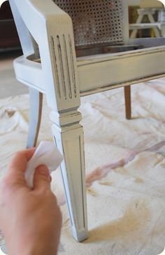 How to distress wood (and refurbish old chair)