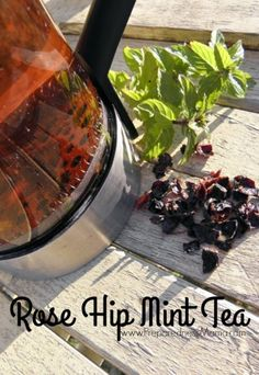 Rose hip mint tea is refreshing, naturally sweet and packed full of vitamins | PreparednessMama
