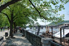 Walking along the Vltava
