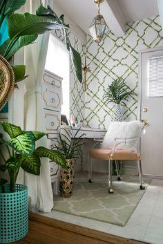 bamboo wallpaper + tropical botanicals