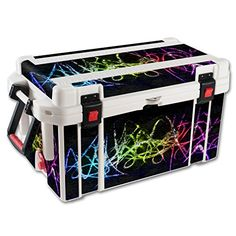 MightySkins Protective Vinyl Skin Decal for Pelican 65 qt Cooler wrap cover sticker skins Neon ** Click on the image for additional details.