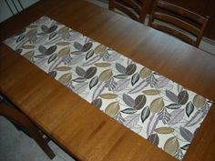 Falling Leaves Runner lavender and brown 16 x 56 by DressYourTable