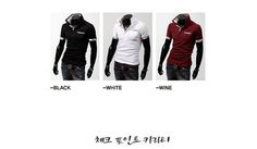 Polo T-Shirts Casual Slim Fit Stylish Short-Sleeve Shirt Color:Black,White,Winered