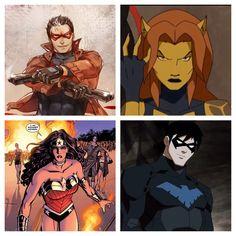Pic stitch Cheetah  Wonder Woman Red hood Nightwing