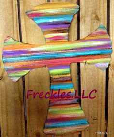 Rustic meets Fun Cross via Etsy