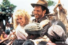 Indiana Jones and the Temple of Doom - Publicity still of Harrison Ford, Jonathan Ke Quan & Kate Capshaw