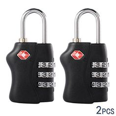 XCSOURCE 2pcs 3 Digit Combination Safe Travel Luggage Suitcase Code Lock Black HS206 >>> To view further for this item, visit the image link. Note:It is Affiliate Link to Amazon.