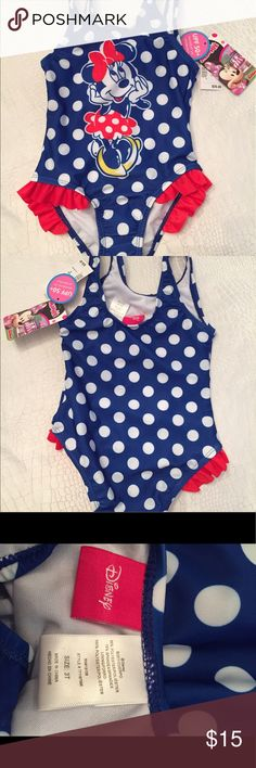 Girls bathing suit Adorable Minnie Mouse girls bathing suit nwt Swim One Piece
