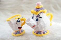 Pack 2 in 1 Mrs Potts and Chip Beauty and the Beast Amigurumi Pattern Disney Movie Baby Mug Teapot Easy DIY PDF Crochet Tutorial Cute Crochet, Crochet For Kids, Crochet Crafts, Crochet Baby, Crochet Projects, Crochet Patterns Amigurumi, Amigurumi Doll, Crochet Dolls, Knitting Patterns