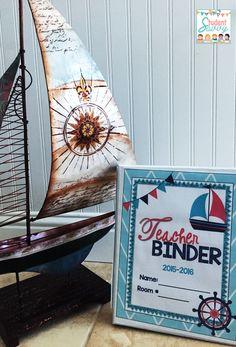super cute Nautical Teacher Binder & Decor Set!!
