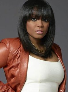 Youthful Straight Capless Synthetic Wig for Black Women 16 Inches - My list of women's hairstyles Short Bob Wigs, Short Bob Hairstyles, Black Girls Hairstyles, Afro Hairstyles, Hairstyles With Bangs, Urban Hairstyles, Hairstyle Ideas, Undercut Hairstyle, Gorgeous Hairstyles