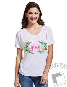 GBIG - Floral Family Slouchy Tee by ABD BlockBuy! Available until 4/5, $20! | Adam Block Design | Custom Greek Apparel & Sorority Clothes |www.adamblockdesign.com