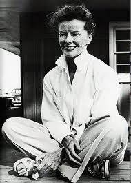 Katherine Hepburn. i once went looking for quotes on acting as an art, discovered this role model of mine had more poignant ones on Life...