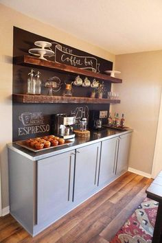 wir haben einzigartige kaffee bar ideen fr ihr zuhause gesammelt die ihnen helfen noch mehr das kaffee ritual zu genieen die idee fr einen besonderen - Schwarze Kuche Design Ideen Fur Stilvolles Zuhause