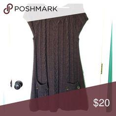 Dark grey sweater dress Dark gray short sleeved sweater dress Style & Co Dresses