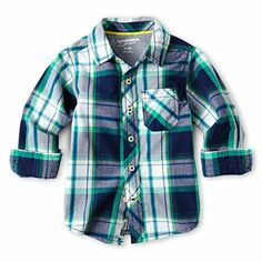 Arizona Sp14 Infant/Toddler Boy Long Sleeve Plaid Woven - JCPenney
