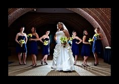 Bridal party at the Sheraton Hotel in Raleigh. Had some fun with backlighting here.