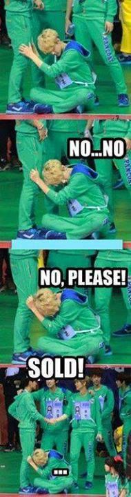 Lol sehun was sold to luhan Creeper mode :\ freaks me out if was real XD