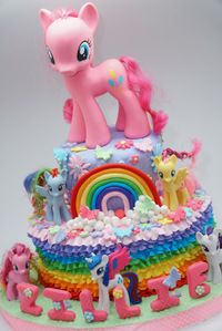 Kue Ultah Berhias Little Pony Birthday Birthday Cake