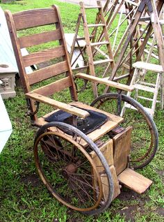 Vintage Wheelchair...we've come a long way!