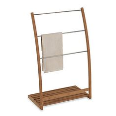 A stylish alternative to hanging towels from a wall-mounted rack, this spa-worthy bamboo wood towel stand brings a sense of nature-inspired decor to your bathroom. Free Standing Towel Rack, Spa Towels, Hanging Towels, Bathroom Organisation, Bathroom Ideas, Bath Ideas, Towel Holder, Towel Racks, Boutique