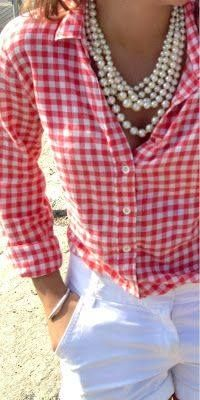 Spring Look Picture Description gingham & Spring Look, Spring Summer Fashion, Preppy Style, Style Me, Classic Style, Estilo Preppy, Passion For Fashion, Ideias Fashion, What To Wear