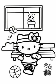 668 Best Hello Kitty Coloring Pages Printables images in