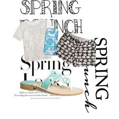 Untitled #99 by lily-sunshine on Polyvore featuring polyvore, fashion, style, J.Crew, Lilly Pulitzer, Jack Rogers and H&M