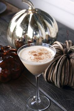 Spiced Pumpkin Martini    1 ½ ounces Vanilla Vodka  1 ounce Amaretto Liqueur  1 ounce Half n Half  2 tablespoons Pumpkin Butter  1 dash Pumpkin Pie Spice    directions:  Combine ingredients in a cocktail shaker with ice and shake vigorously (10 – 15 seconds). Pour into chilled martini glass and garnish with an additional dash of pumpkin pie spice.