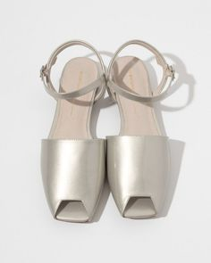 Intentionally Blank Intimate Patent Flats in Grey Patent   The Dreslyn