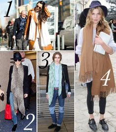 Try This Scarf Styling Trick For An Instantly Chic Look  Scarf + pants + coat + sweater + polo + top