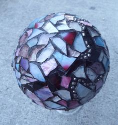 Custom Mosaic Ball, Done By Order Only Gazing Ball, Crystal Ball, Home Decor, Romantic Decor on Etsy, $65.00