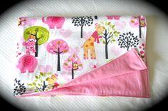 Very Soft Reversible Baby Girl Blanket Minky by OnMuskratCreek
