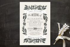 Painted Meadow Wedding Invitations by Alethea and Ruth at minted.com