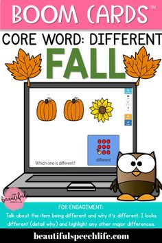 Core Word: DIFFERENT  features 30 slides with simple backgrounds to avoid distraction.  Perfect for young students working on AAC, learning core vocabulary, following simple directions, and building vocabulary.