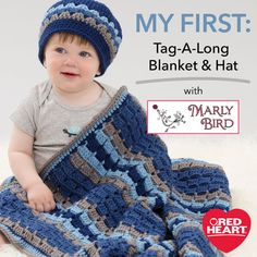 My First Baby Blanket and Hat with Marly Bird -- Welcome to My First with Marly…