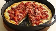 Deep-Dish Sausage Patty Pizza. A Saucy Yum's Up! from Lodge Cast Iron. Our skillets make super deep-dish pizza!