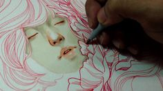 dailydraw timelapse 5. finecolour marker and pen on canson montval 300gsm paper, recorded with iphone 4s. music : Black Rebel Motorcycle Clu...