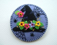 Witch Hat Felt Pin