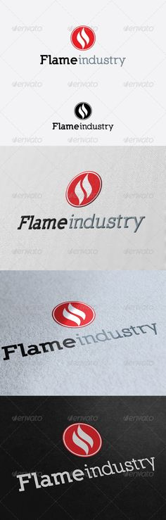 Flame Industry Logo Template by mia3d Re sizable VectorEPSand Ai Color customizable Fully editable Free font used: http://www.dafont.com/nilland.font