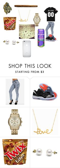 """Untitled #117"" by chrissyaaniyah ❤ liked on Polyvore featuring NIKE, Michael Kors and Minnie Grace"