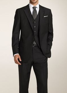 mens suit, but in gray/charcoal