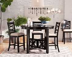 Davis II Dining Room Collection | Furniture.com-5 Pc. Counter-Height Dinette $399.99
