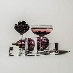 Distorted Fruit and Vegetables Through Water-Filled Glasses – Fubiz Media