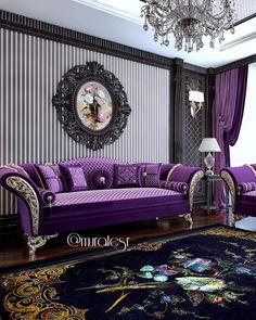 Customer Project💫☂️☪️💜♏️ Interior Design Living Room, Living Room Designs, Living Room Decor, Sofa Set Designs, Sofa Design, Living Tv, Small Home Offices, Luxury Sofa, Luxury Homes Interior