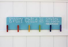 Every Child is An Artist  Hand-Painted Wooden by studioninetwenty