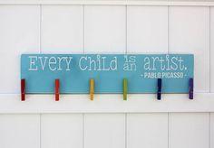 Every Child is An Artist // Art Work Display by studioninetwenty