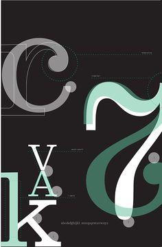 Font Study: Belizio by Triana Thompson, via Behance