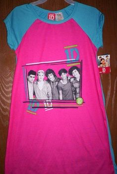 ONE DIRECTION 1D Fushia Nightgown PAJAMAS Girl's 10/12 NeW Pjs Harry Liam Louis #1D #Nightgown