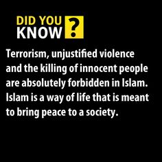 What Islam Says about Terrorism? The medias say WRONG things about islam. Islam is a peacefull religion. And it is forbidden to kill someone, when you are a muslim.